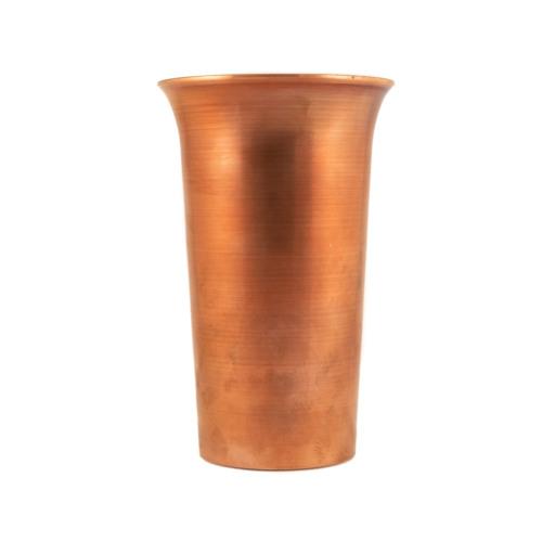 Kupferbecher großer Humpen silber verzinnt 0,5l front