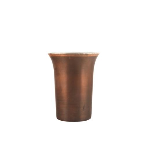 Kupferbecher kleiner Humpen brüniert 0,3l front