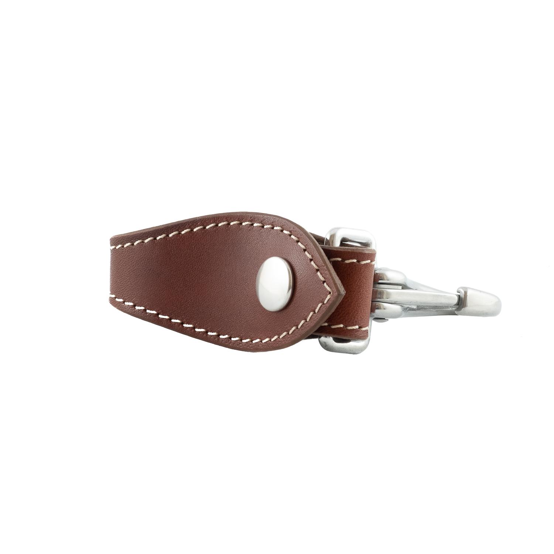 Schlüsselanhänger aus echtem Leder mit Karabinerverschluss 4