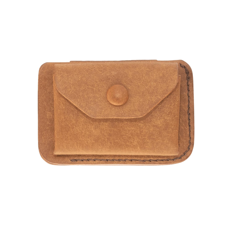 Etui für Bankkarten, Kreditkarten aus Echtleder, Pueblo-Leder mit Münzfach 2
