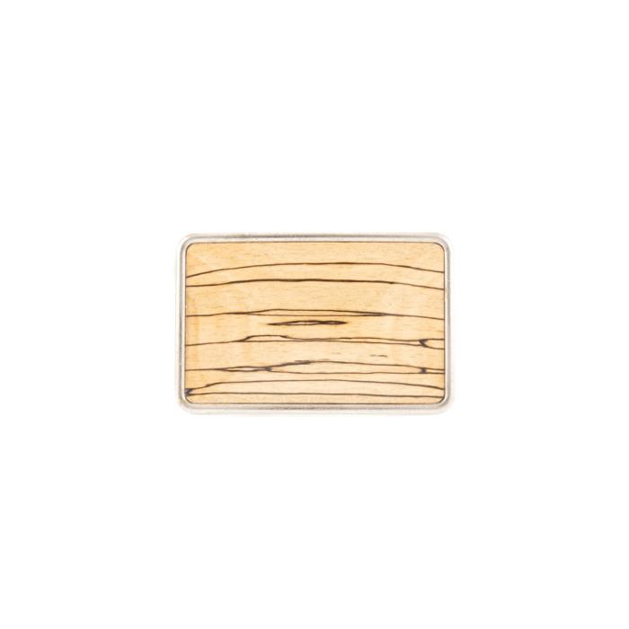 Buckle mit Holzeinlage gestockte Buche