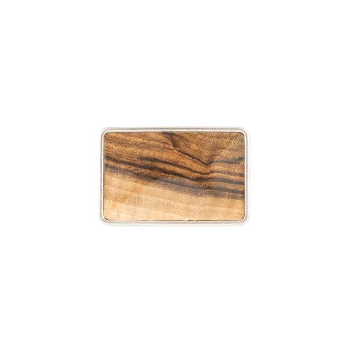 Buckle mit Holzeinlage Walnuss
