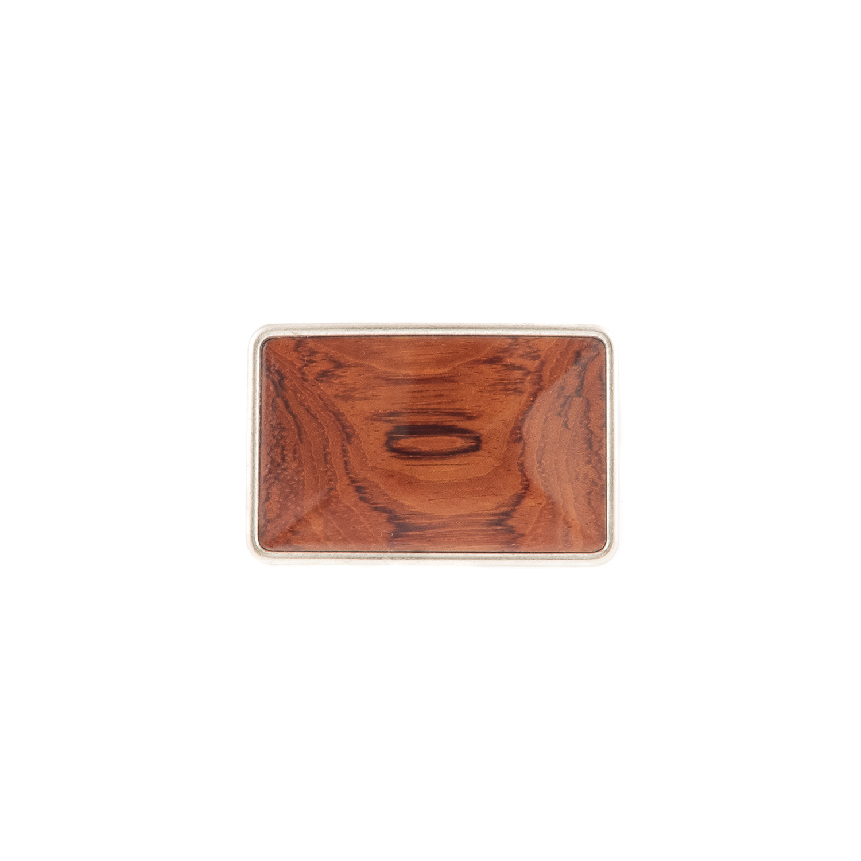 Buckle mit Holzeinlage Bubinga